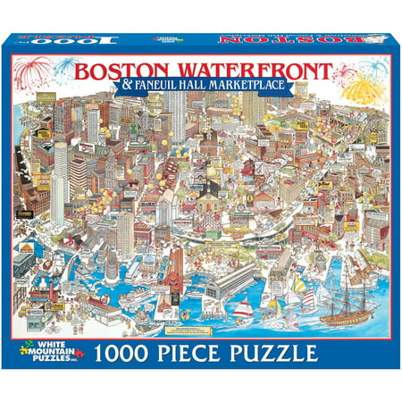 White Mountain Puzzles Boston Waterfront Ma Puzzle 1000 Pieces