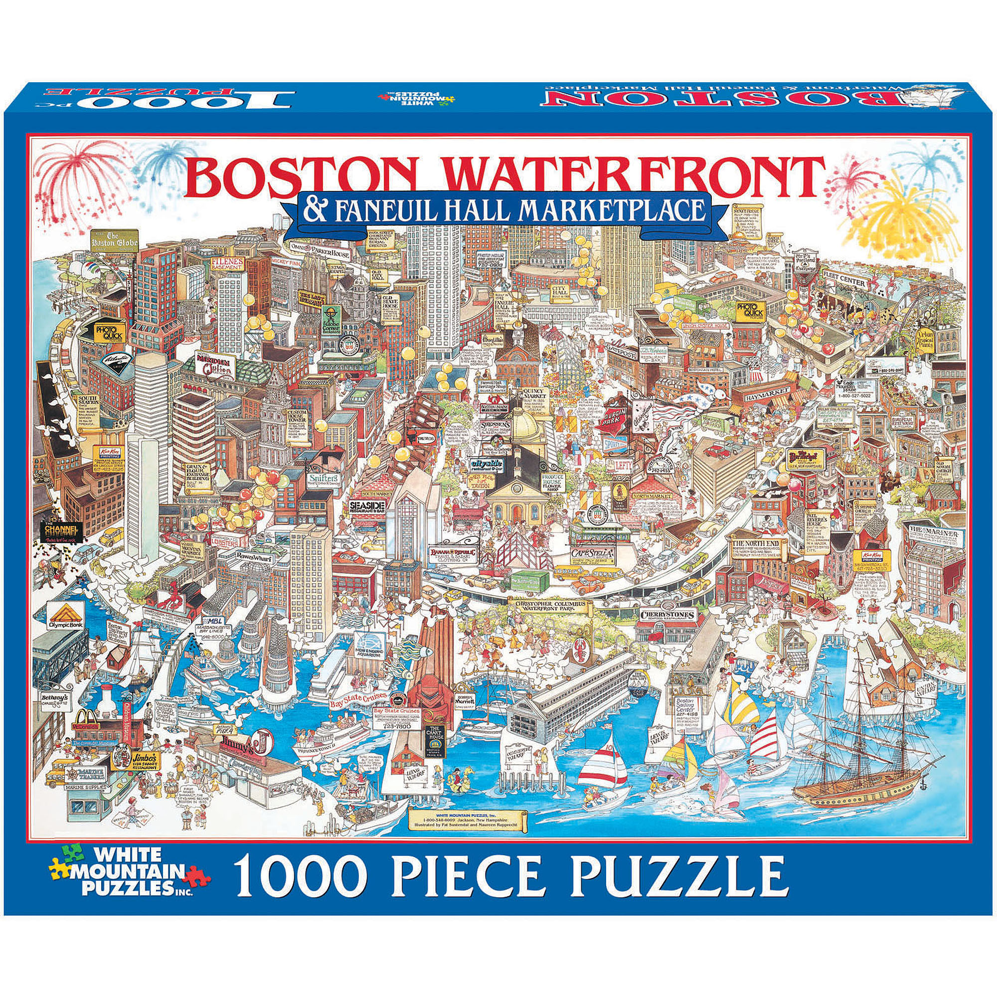 White Mountain Puzzles Boston Waterfront, MA Puzzle, 1000 Pieces