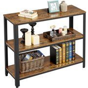 Yaheetech Vintage Sofa Side Table for Entryway Living Room Industrial Console Table