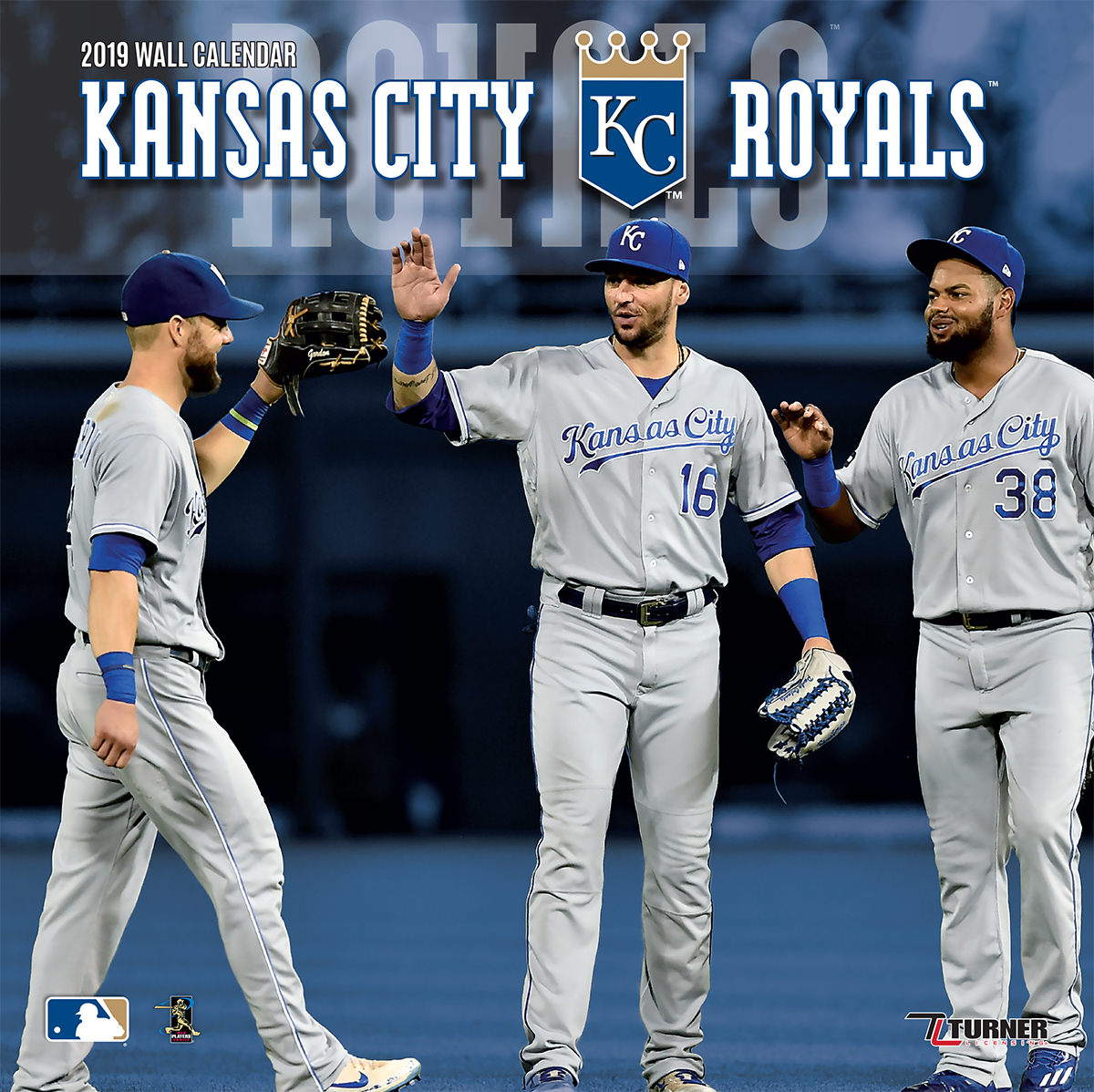 2019 12X12 TEAM WALL CALENDAR, KANSAS CITY ROYALS