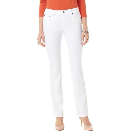 DIANE GILMAN Size 22W Classic Baby Boot-Cut Jeans WHITE ()
