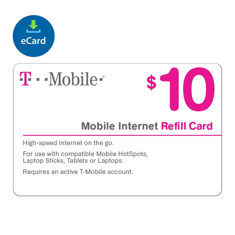 T-Mobile Prepaid Mobile Internet On-Demand Pass eGift Car...