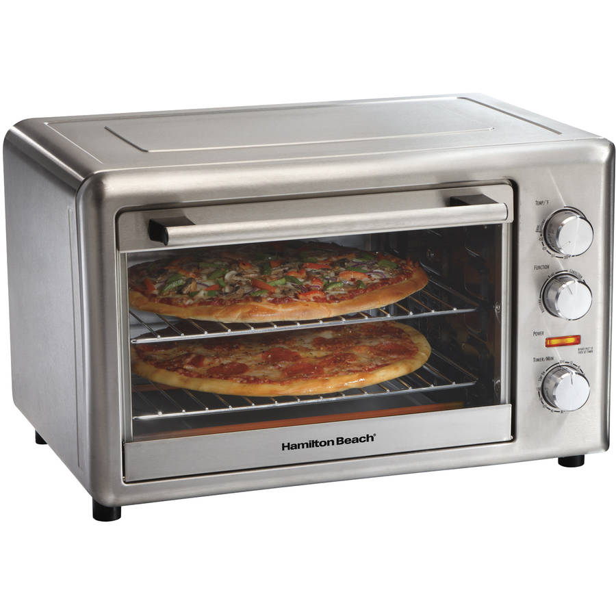 Hamilton Beach Large Capacity Stainless Steel Counter Top Oven, With Rotisserie function
