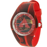 Men's Watch, Red Silicone Band