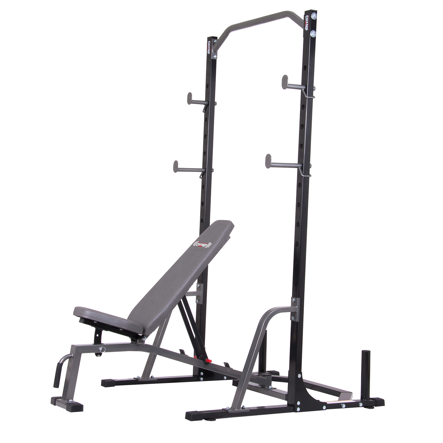 Body Champ PBC1835 2-Piece Power Rack with Weight Bench