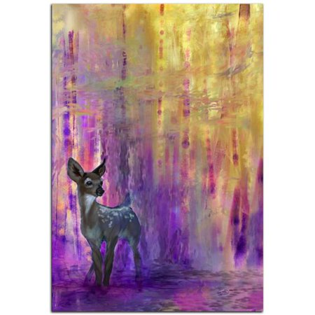 Metal Art Studio Wildlife Urban Fawn Contemporary Deer by Ben Judd Graphic Art Plaque