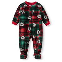Matching Family Christmas Pajamas Baby Boy Girl Unisex Footed Microfleece Blanket Sleeper