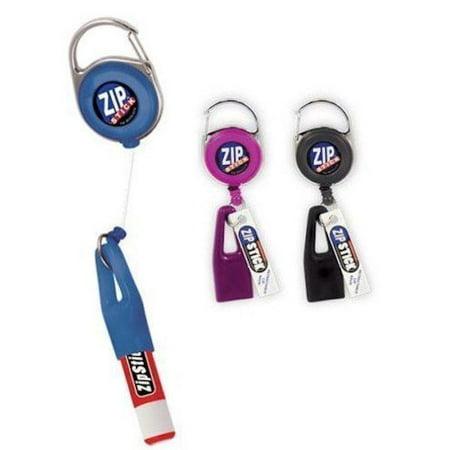 Zip Stick Retractable Lip Balm Holder - 2 Pack- Assorted Colors - Zip Lips Halloween