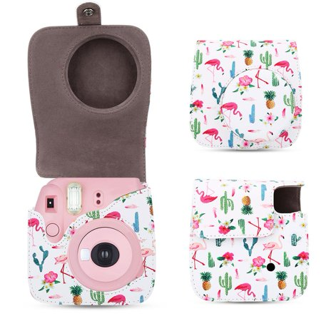 EECOO Protective Camera Case Bag with Shoulder Strap for Fuji Fujifilm Instax Mini 8/8+/9