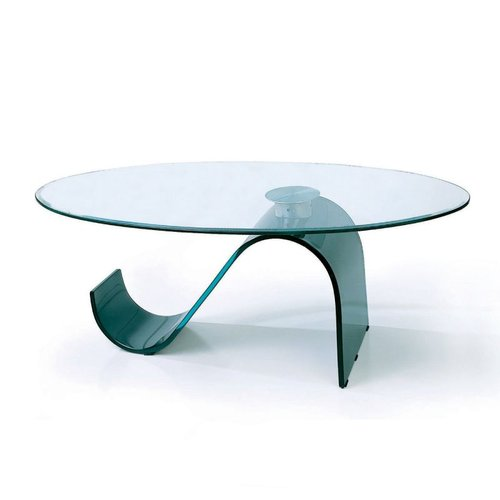 bh design c22 bent glass coffee table black