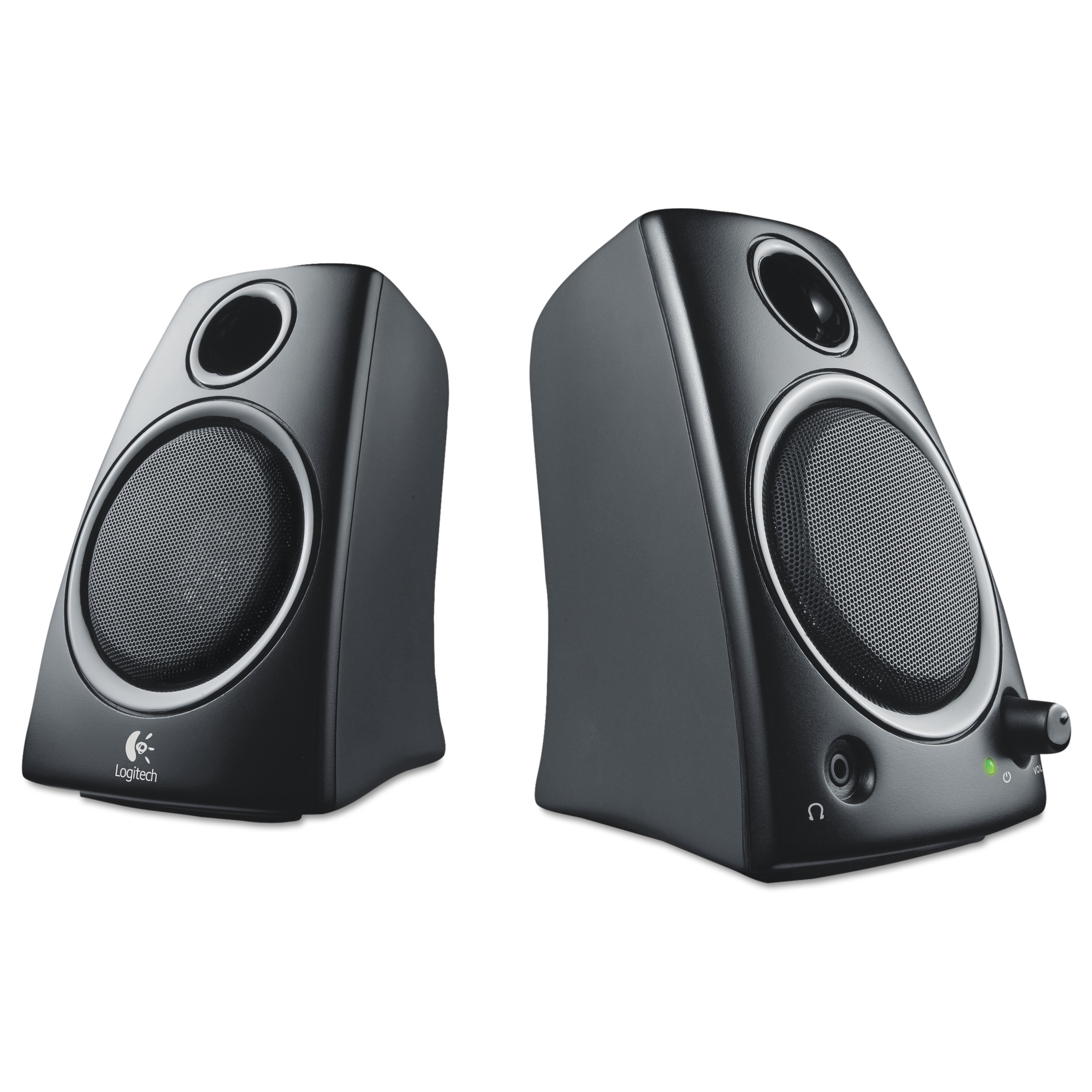 Logitech Z130 Compact 2 0 Stereo Speakers, 3 5mm Jack, Black