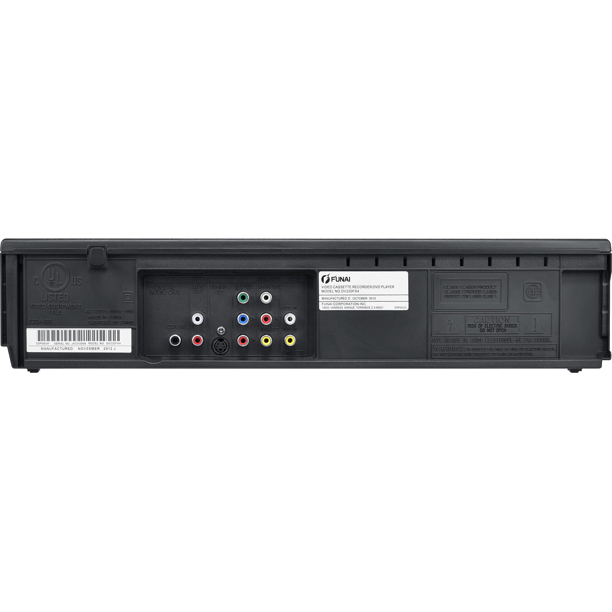Funai DV220FX4 DVD Player VCR by Funai Corporation