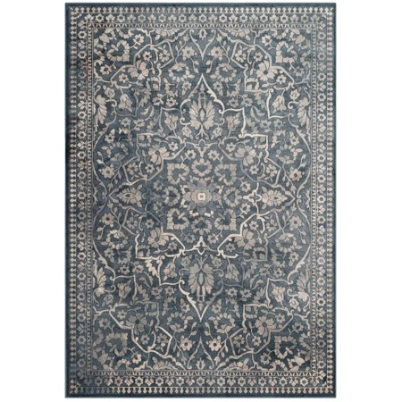 """Safavieh Vintage 4' X 5'7"""" Power Loomed Rug in Blue and Light Gray - image 3 de 3"""