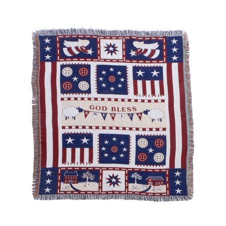 Americana Blessings Tapestry Throw by OakRidgeTM, 65% polyester/35% cotton By Miles Kimball