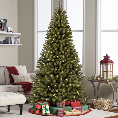 Best Choice Products 7.5ft Pre-Lit Spruce Hinged Artificial Christmas Tree w/ 550 UL-Certified Incandescent Warm White Lights, Foldable Stand