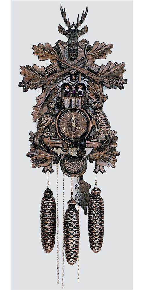 8-Day 23 in. Black Forest House Cuckoo Clock by Schneider Cuckoo Clocks