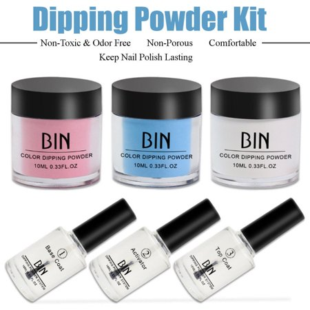 Enjoyofmine 6/set Dipping Powder Tool Kits without Cure Dip Powder Nails Healthy Nail Art Dipping Powder Tool - Halloween Nails Without Tools