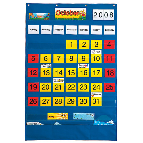 Patch Products Calendar Wall Pocket Chart