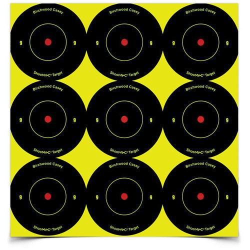 "3/"" Bullseye Shoot-N-C Targets Spots Self Adhesive Pkg of 12 Birchwood Casey 48"