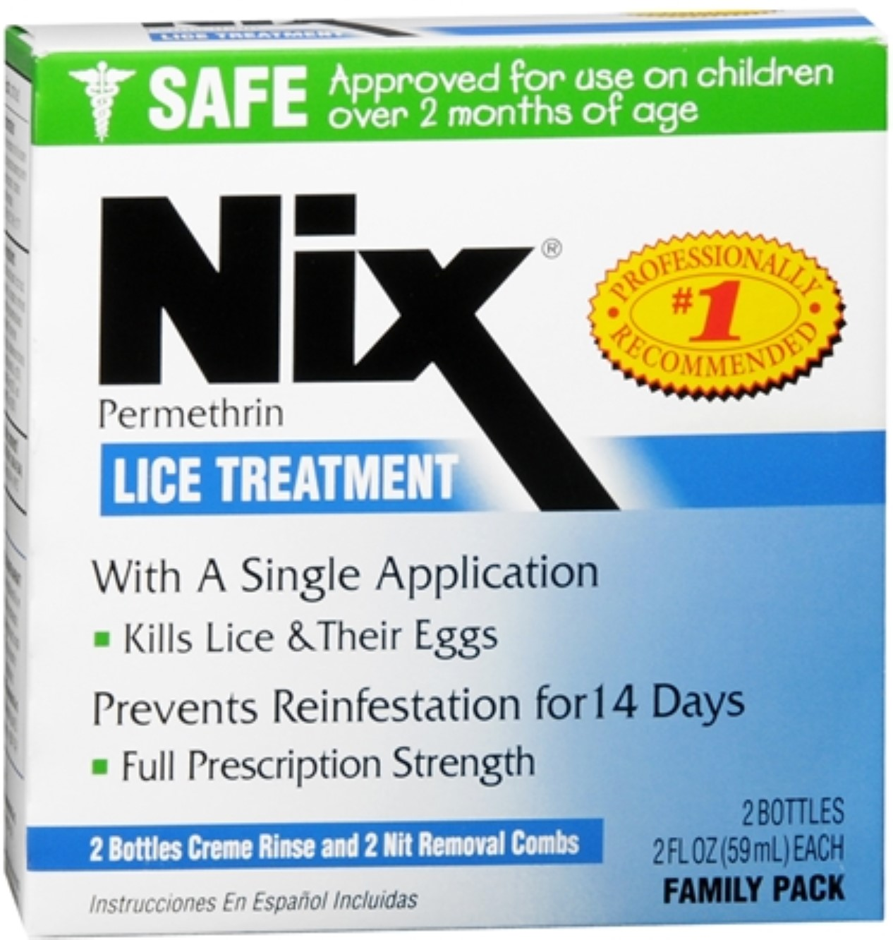 Nix Lice Treatment Family Pack 4 oz