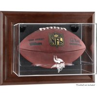 Minnesota Vikings Brown Framed Wall-Mountable Football Case