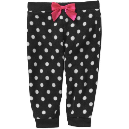 garanimals newborn baby girl printed micro fleece pants walmart com
