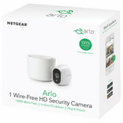 Arlo 720P HD Security Camera System VMS3130 - 1 Wire-Free Battery Camera with Indoor/Outdoor, Night Vision, Motion Detection