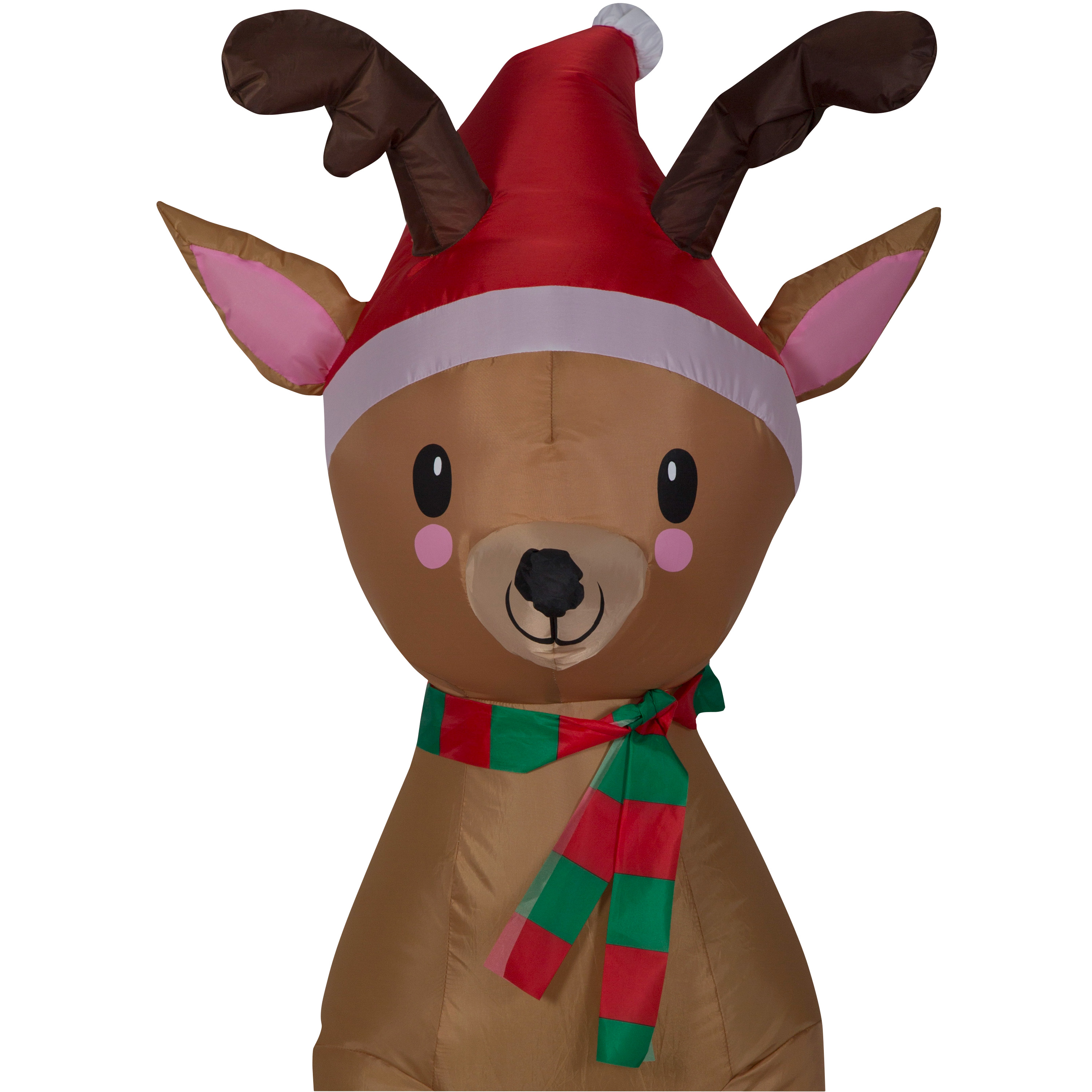 Christmas decor gemmy airblown inflatable reindeer 3 5 for Airblown decoration