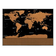 unique world travel tracker scratch off world map poster with us states and country flags