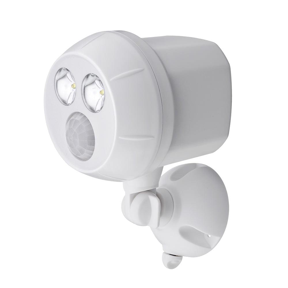 400 Lumen Outdoor White Weatherproof Wireless Battery Powered LED Ultra Bright Spot Light with Motion Sensor