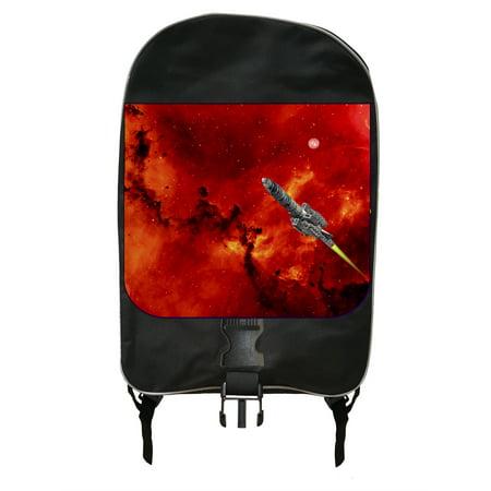 Rocket Ship Blast Off - Black School Backpack (Best Way To Ship A Backpack)