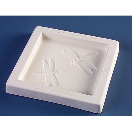 Dragonfly 6x6 Inch Tile Mold for Fusing Glass By Creative Paradise Ship from US