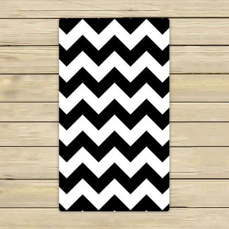 Gckg Stripe Towelsblack White Chevron Zigzag Stripe Pattern Beach