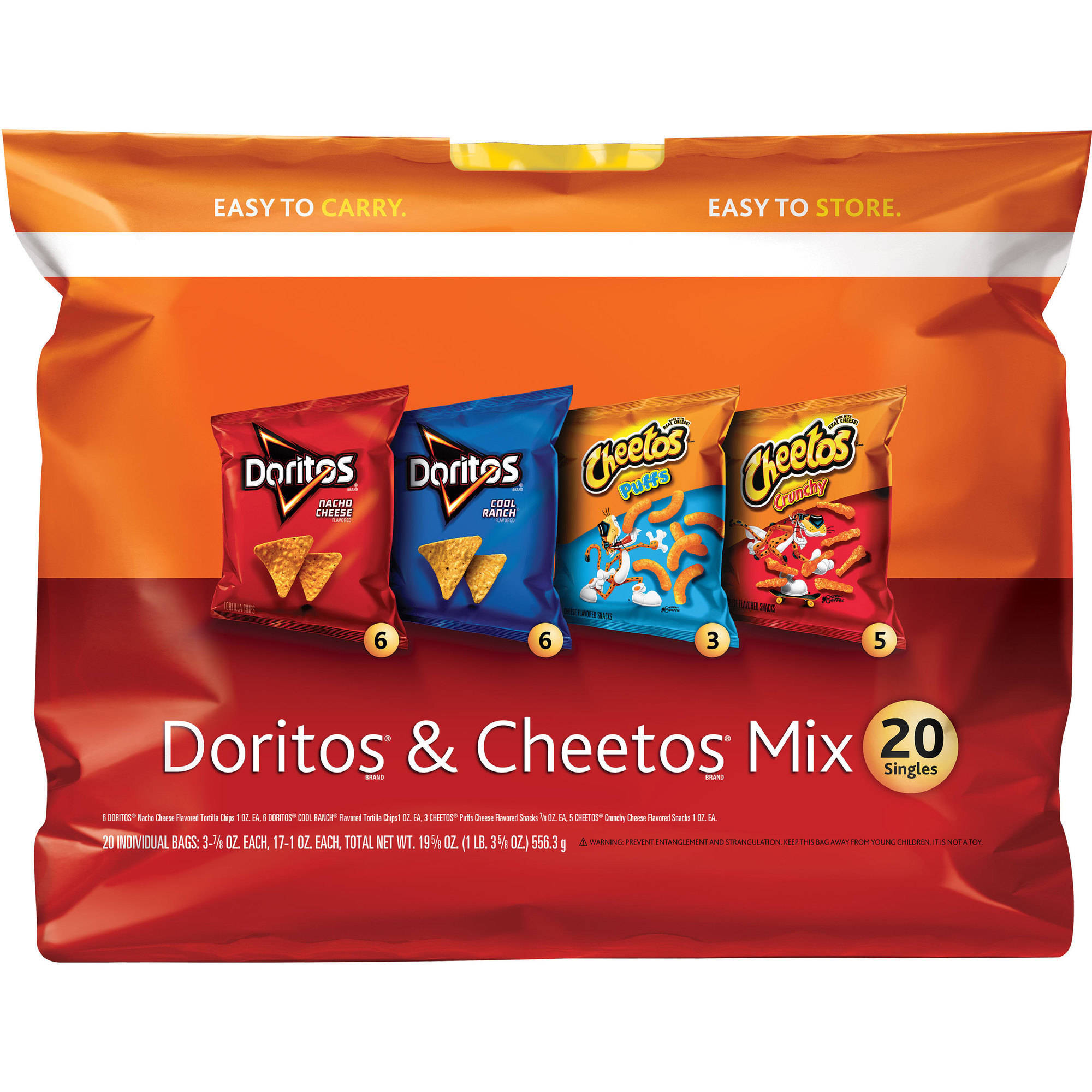 Doritos & Cheetos Mix Variety Pack, 20 count, 19.63 oz