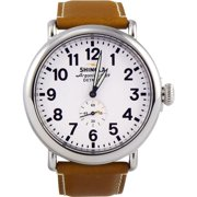 Shinola The Runwell White Dial Leather Strap Men's Watch 10000010