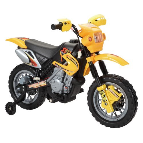 Happy Rider Dirt Bike Motorcycle Battery Powered Riding Toy - Yellow