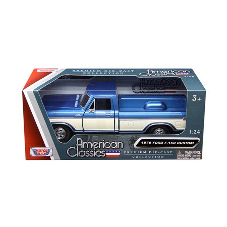 1979 Ford F-150 Pickup Truck 2 Tone Blue/Cream 1/24 Diecast Model Car by