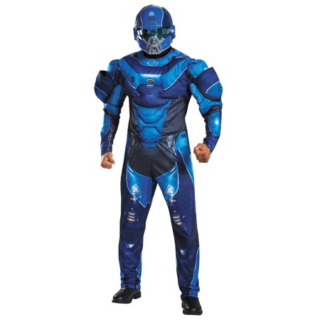 Blue Spartan Muscle Men's Adult Halloween (50's To 80's Costumes)