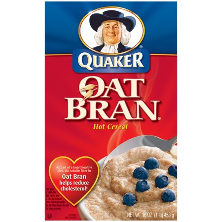 Quaker Hot Oat Bran Hot Cereal, 16 Ounce Boxes