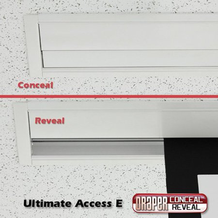 "Draper AT Grey Ultimate Access / Series E Acoustically Transparent Screen - 133"" diagonal HDTV Format"