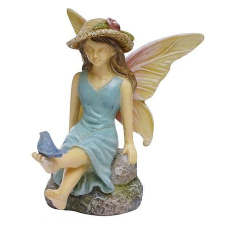 Miniature Gingerbread Houses - Miniature Fairy Girl Statue Garden Accessory Dollhouse Decor Ornament