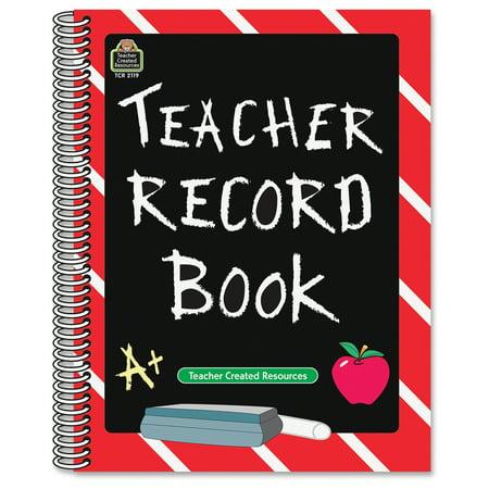 Teacher Created Resources Chalkbrd Teacher Record Book   32 Sheet S    Spiral Bound   11  X 8 50  Sheet Size   1Each  2119