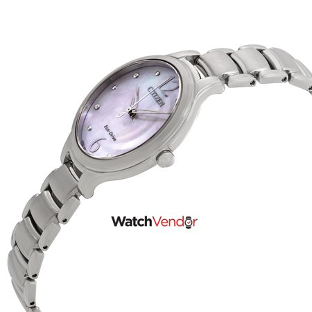 d63d1a4ee Citizen L Crystal Mother of Pearl Dial Ladies Watch EM0550-59D - image 1 of  ...