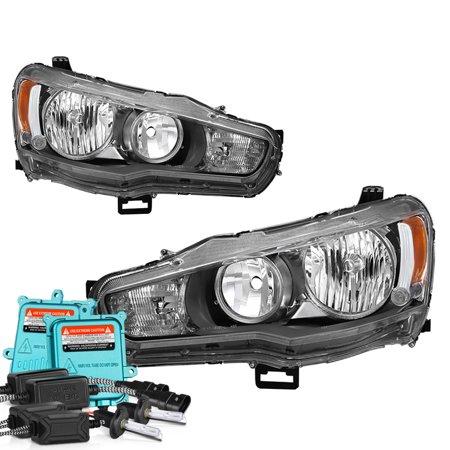 Mitsubishi Lancer Headlight Headlamp (VIPMOTOZ OE-Style Headlight Headlamp Assembly For 2008-2017 Mitsubishi Lancer Ralliart Evolution EVO X Halogen Model )