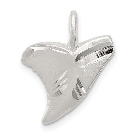 Sterling Silver Tooth - Roy Rose Jewelry Sterling Silver Diamond Cut Shark Tooth Pendant