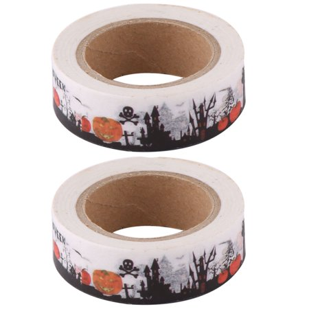 Office Washi Paper Castle Pattern Box Cardboard Label Tape Roll 10M Length (Building A Castle Out Of Cardboard Boxes)