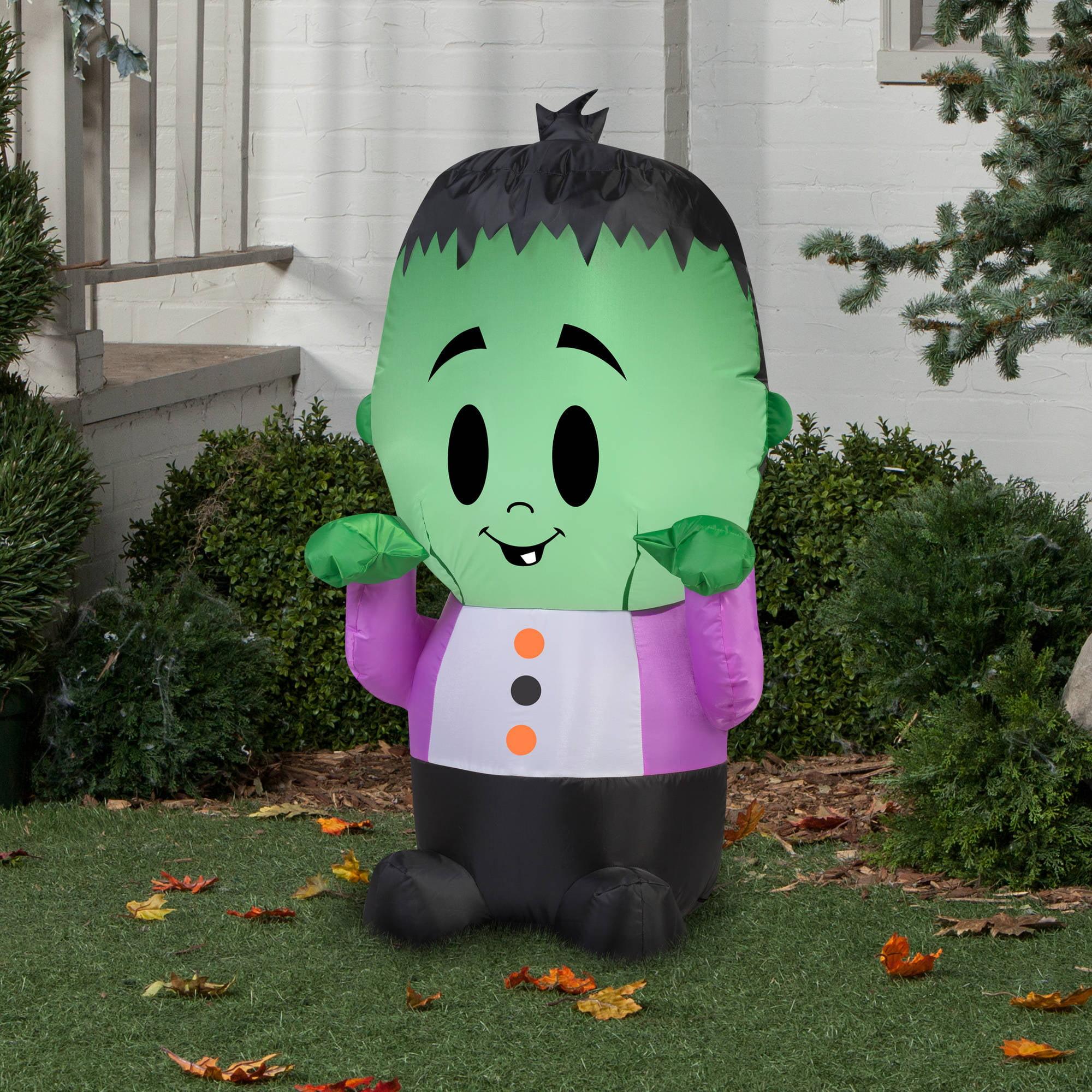 gemmy airblown inflatable 35 x 2 happy monster halloween decoration walmartcom