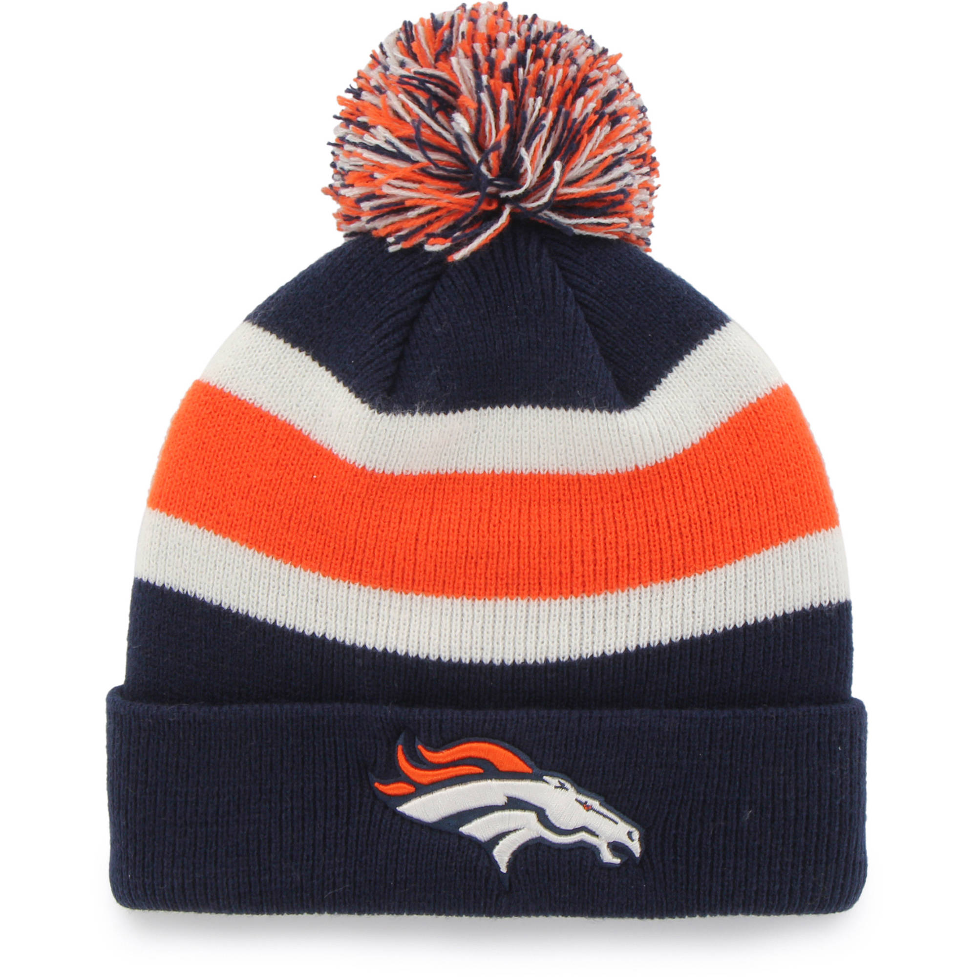 Fan Favorites F-MBRKW10ACE-LN OSF NFL Denver Broncos Breakaway Beanie with Pom - One Size