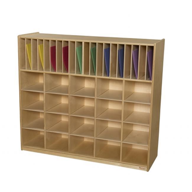 Wood Designs 990326OR Multi-Storage With 20 Orange Trays