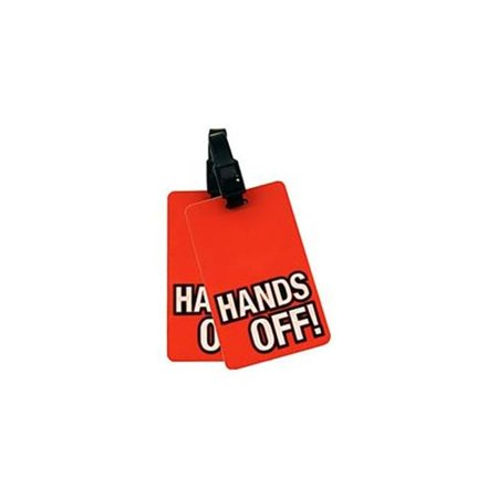 Miami Carry On TLVPC007 Luggage Id Tag - Hands Off - Orange